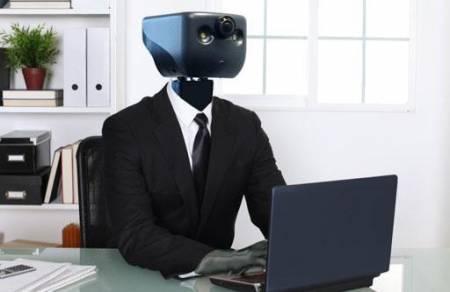 Robot cu job la birou