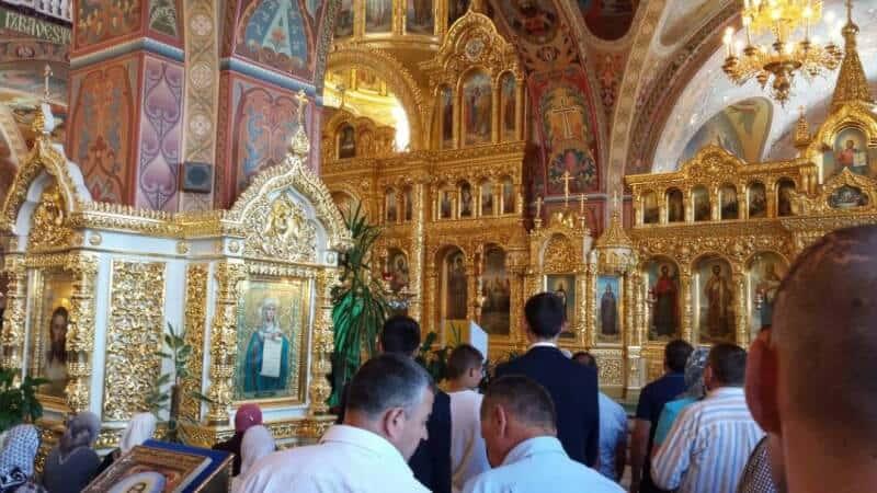 Interiorul Manastirii Banceni
