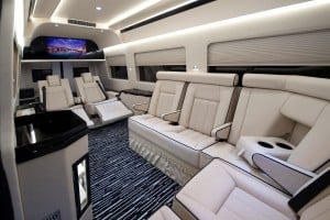 Interior Mercedes Benz Sprinter.