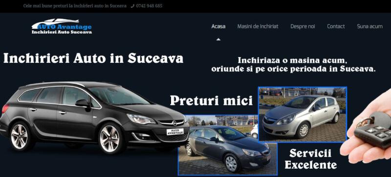 Creare site pentru Auto Avantage