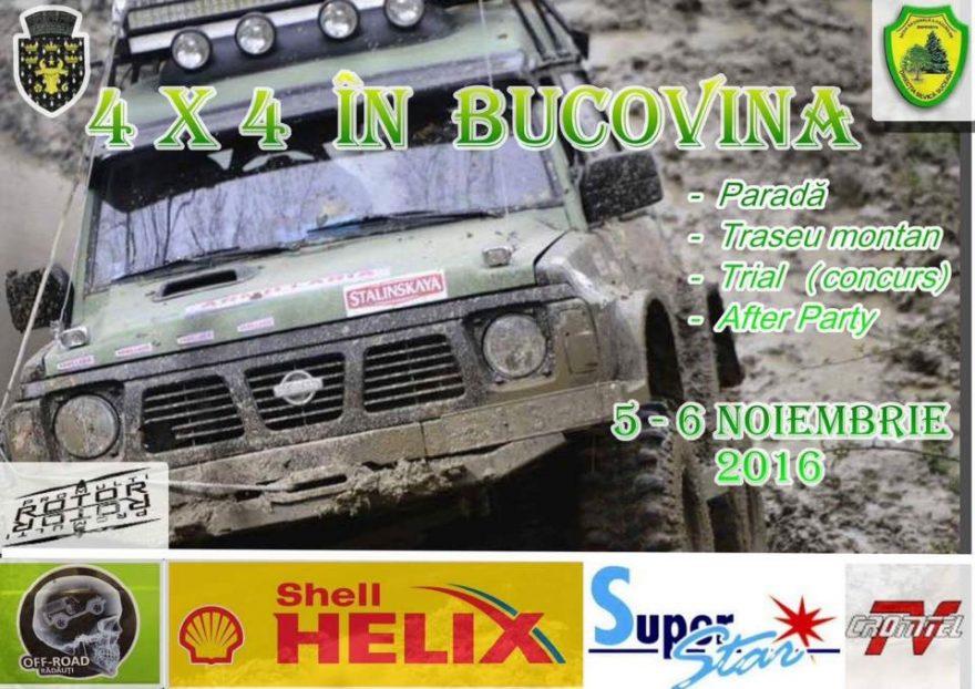Banner 4x4 în Bucovina