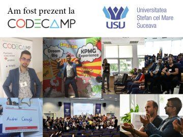 Andrei Cenusa prezent la Codecamp Suceava 2017