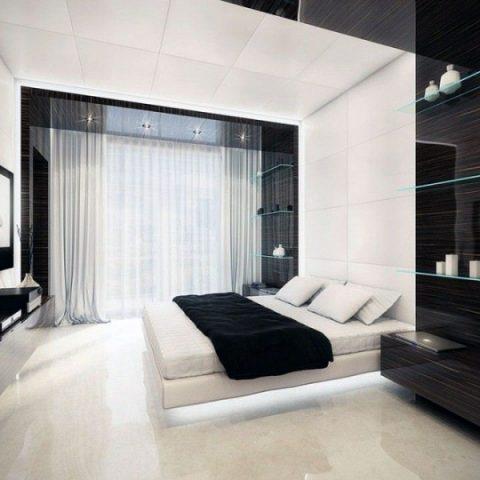 Dormitor iluminat cu becuri LED