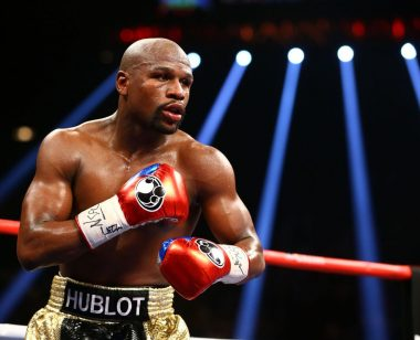 Floyd Mayweather in ring