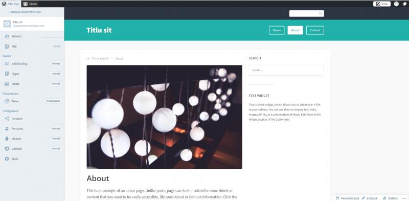 Pasul 8 crearea unui blog pe wordpress