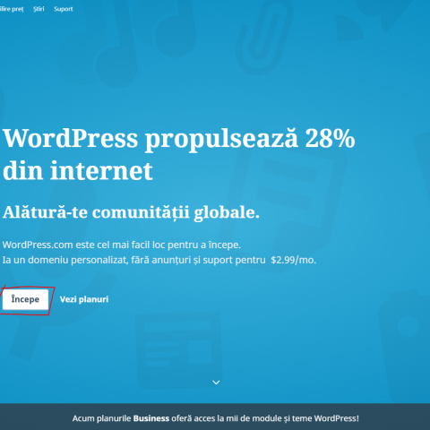 Prima etapa in crearea unui blog pe wordpress