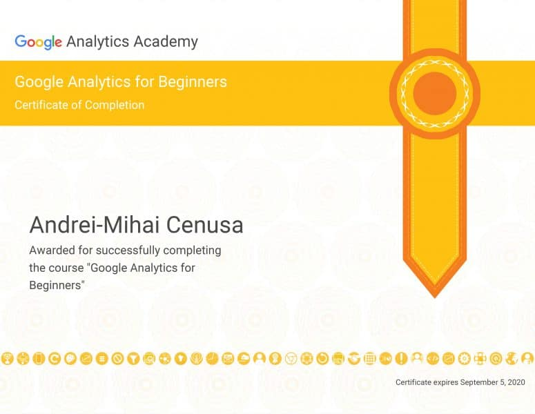 Certificat-Google-Analytics-for-Begginers---5-Septembrie-2020