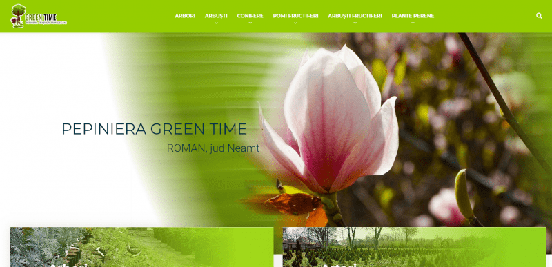 Magazin online pepiniera Green Time
